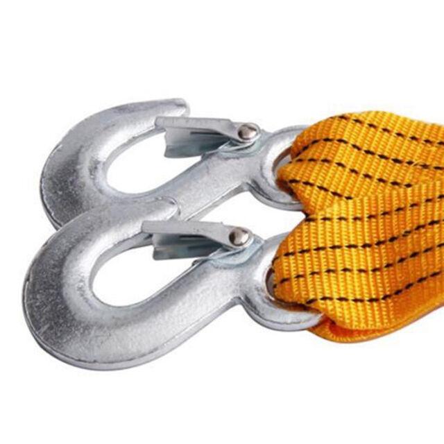 Abschleppseil 5000 kg 4m  2 Sicherheitshaken Abschlepp  Bergegurt Abschleppband