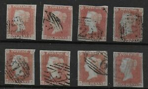 SG-8-8a-Selection-Of-Imperf-1d-039-Reds-039-All-With-4-Margins-FU-Cat-240-Ref-0-29