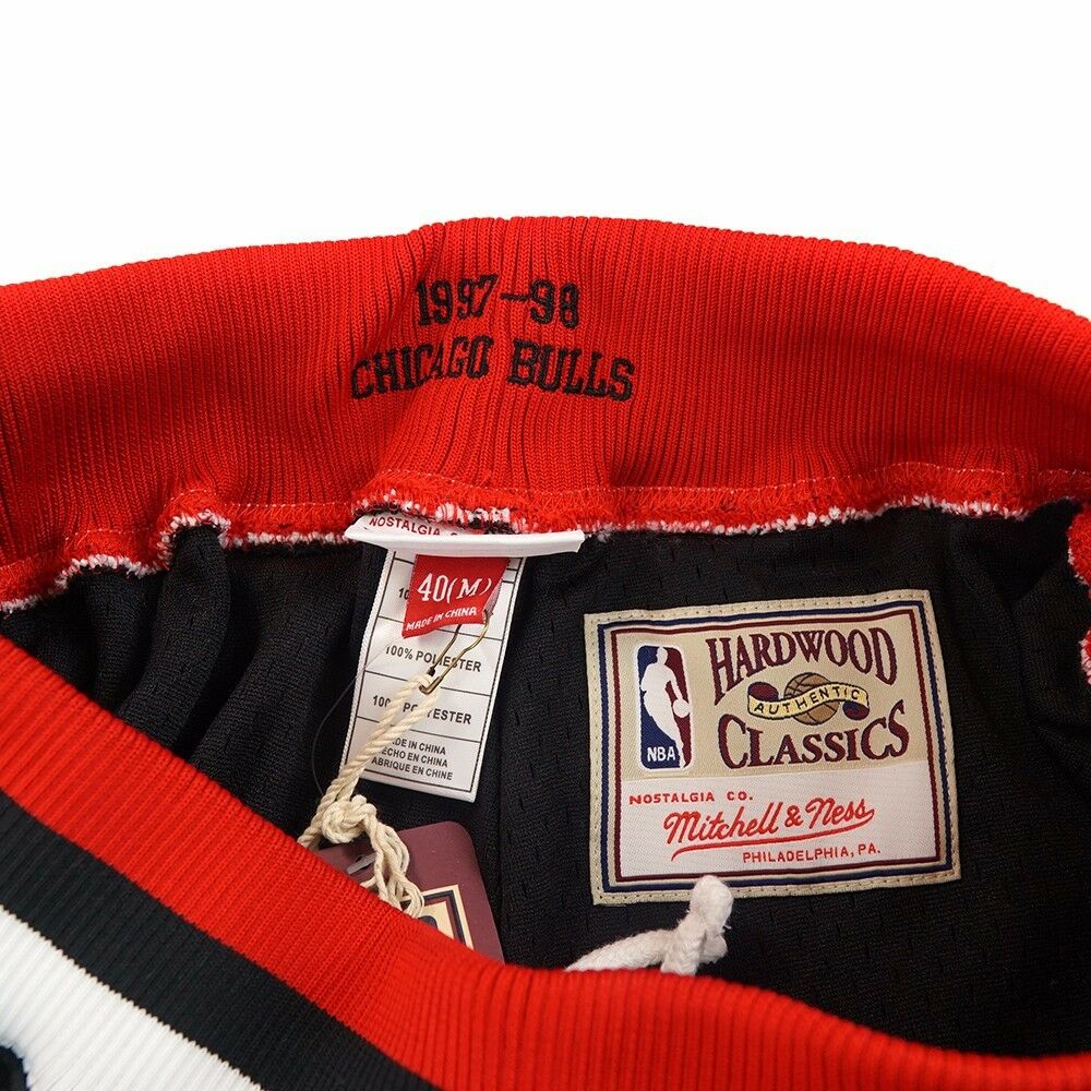 b24c86640b0 NBA Authentic Throwback Retro Shorts Collection by Mitchell   Ness Men s Chicago  Bulls 2 Black 2xl for sale online