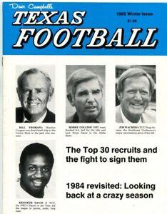 1985-Dave-Campbell-039-s-Texas-Football-Winter-Issue-Jim-Wacker-Kenneth-Davis-TCU