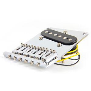 Chrome-6-Selle-Guitare-Chevalet-Pour-Fender-Tele-Telecaster-Pieces-Avec-Vis