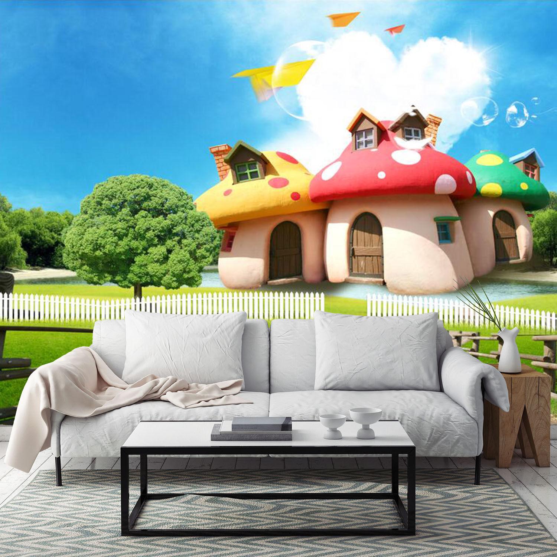 3D Schöne Pilzhaus 96 Fototapeten Wandbild Fototapete BildTapete Familie