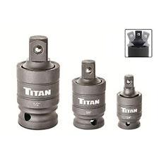 "Titan 3pc Impact 30 degree Wobble Adapter Set, 1/4"", 3/8"", 1/2"" drives #16151"