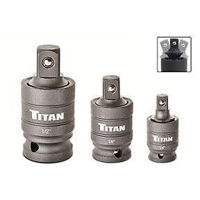 "1//2/"" drives #16151 1//4/"" Titan 3pc Impact 30 degree Wobble Adapter Set 3//8/"""