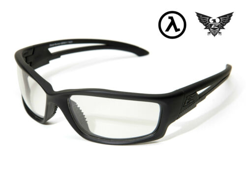 EDGE TACTICAL EYEWEAR BLADE RUNNER BLACK SBR611 CLEAR VAPOR SHIELD LENS