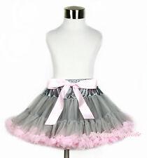 Silver Grey Snake Print Printing FULL Pettiskirt Skirt Dance Tutu For Girl 1-8Y