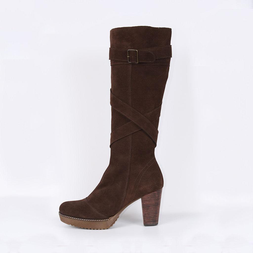 Señora botas botines botines botines botas Business marrón de cuero nuevo zapatos 36  costo real
