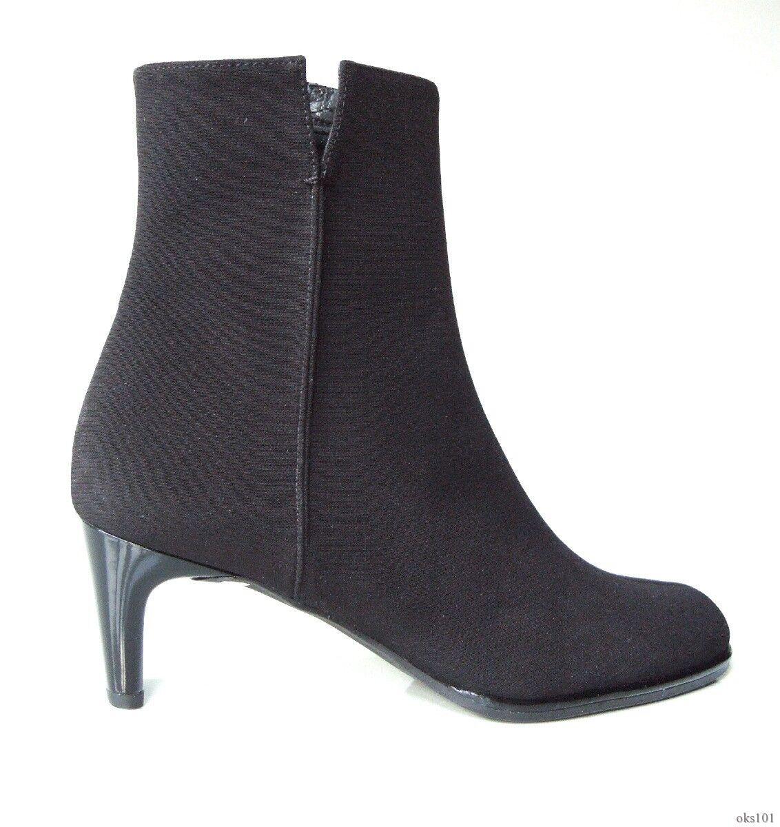 Nuevo Stuart Weitzman Negro Resistente al Agua Gore Tex Con cremallera botas al Tobillo Zapatos 6