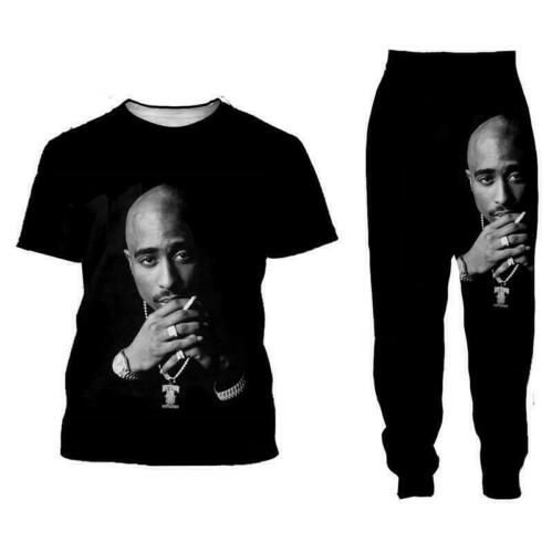 Details about  /Tupac 2pac 3D All Over Print Womens Mens Casual T-Shirt Joggers Pants And Suit