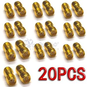 20pcs-SMA-female-jack-to-SMA-male-jack-Straight-RF-Connector-Adapter