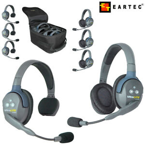 Eartec-Wireless-Headsets-UltraLITE-UL-2-3-4-Single-Dual-w-Rechargeable-Battery