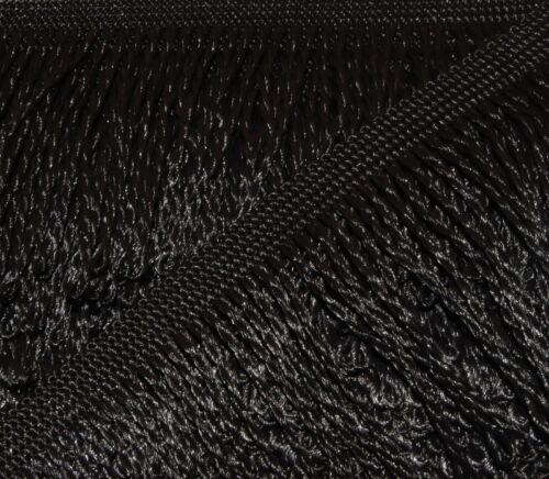 negro fransenborte posamentenborte decoborte a partir de 0,99 €//m 5,0 m flecos 80mm