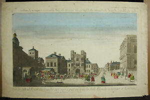 Print-18th-c1770-London-View-L-039-Hotel-Royal-Guards-Of-Parts-England-By