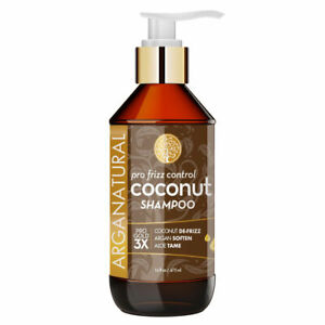 NEW Arganatural  Pro Gold Pro Frizz Control Coconut Shampoo 16 oz