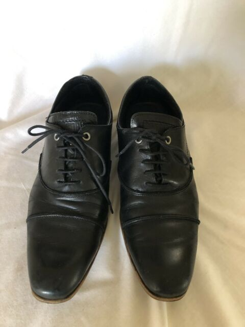 9136d9a0b21 Steve Madden P-kraft Mens Black Leather Casual Dress Lace up Oxfords Shoes 9