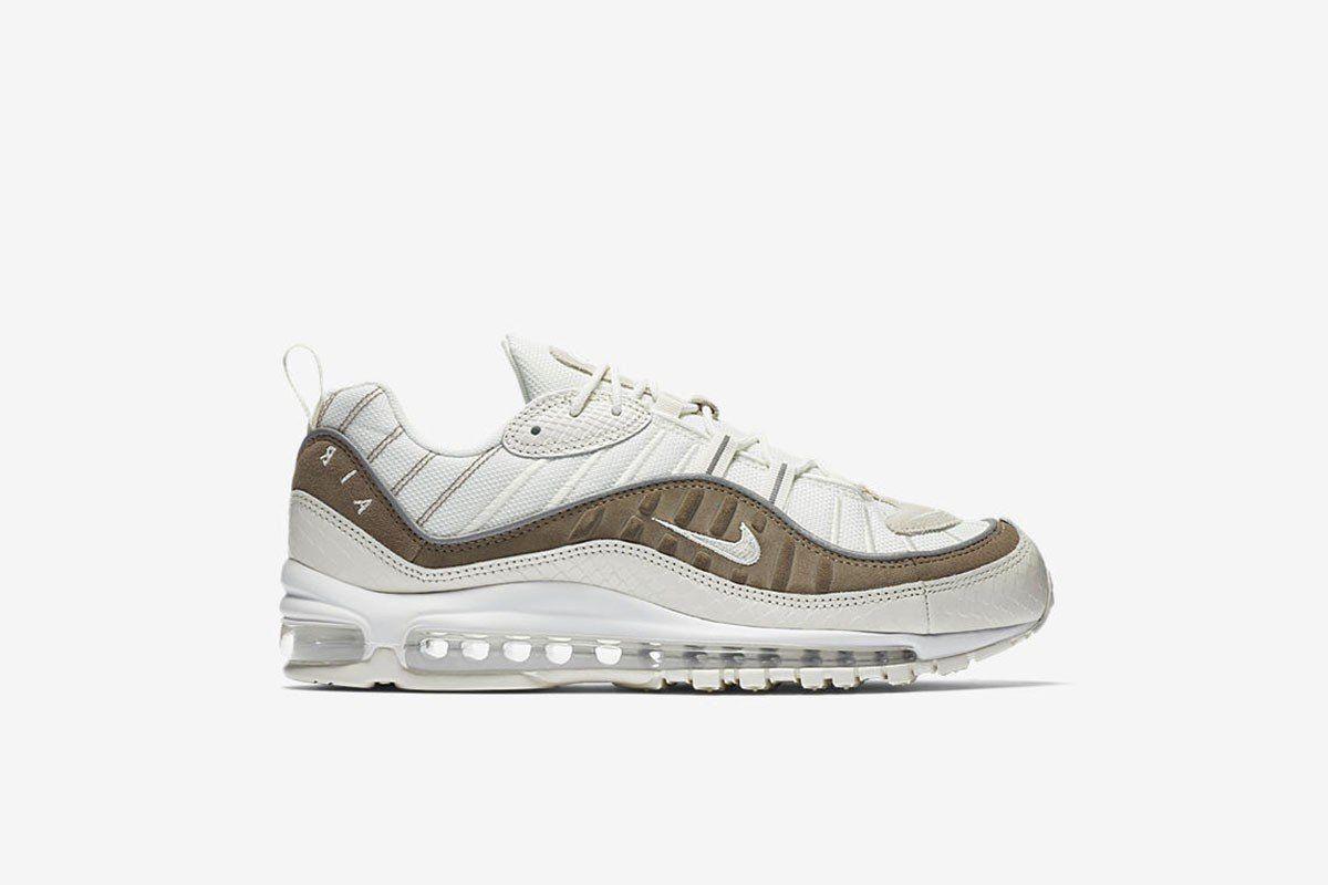 Nike air max 97 esotico, pelle di serpente vela bianca pietra seppia ao9380-100 sz gli 8 e i 13