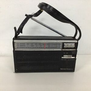 National Panasonic RF-524 Two-Band Transistor Radio In Case #451