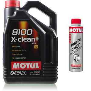 5L-Motul-8100-X-clean-5W-30-Motoroel-Engine-Clean-300-ml-Additiv