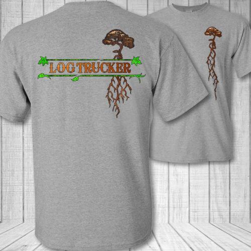 Log Camionero Árbol Raíces Camiseta - pro Camión Camisa Transporte