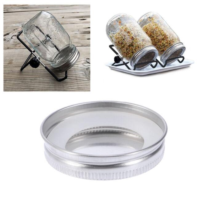 6Pcs Mason Jar Lids Mouth Leakproof Storage Caps Canning Bottle Caps Jar Covers