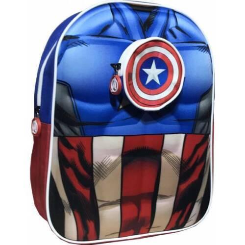 Marvel Sac à dos Captain America en 3D