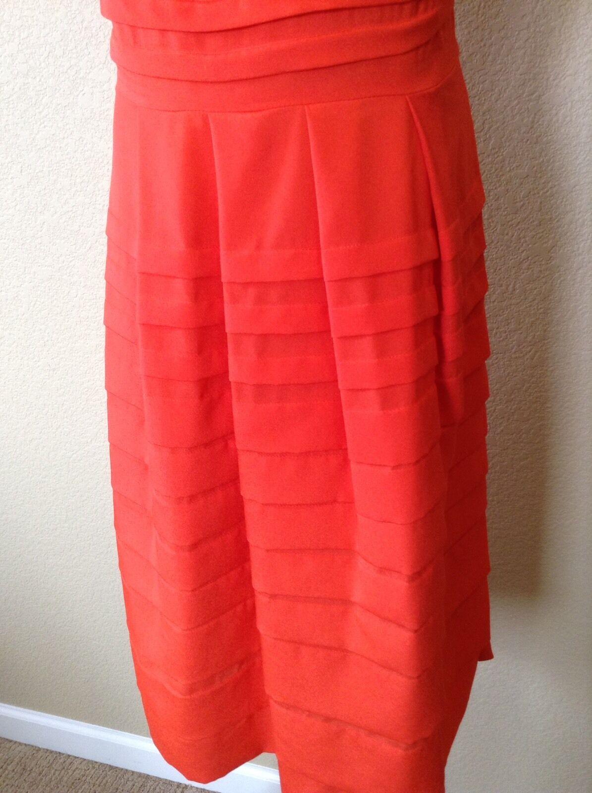NWT Anthropologie Bright Bright Bright orange Tangelo Dress by Eva Franco, Size 4 3a2986