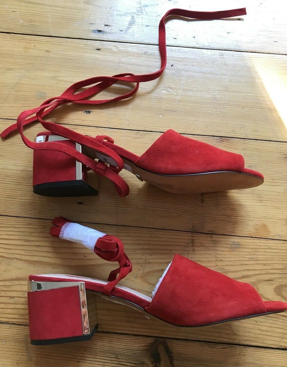 TOPSHOP Red Mule Heels Sandals  NEW size 7