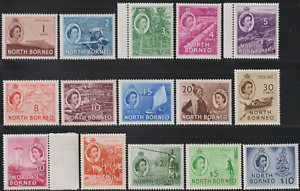 NORTH-BORNEO-1954-QE-II-PICTORIAL-DEFINITIVE-SET-TO-10-SET-15V-MH-CAT-RM-320
