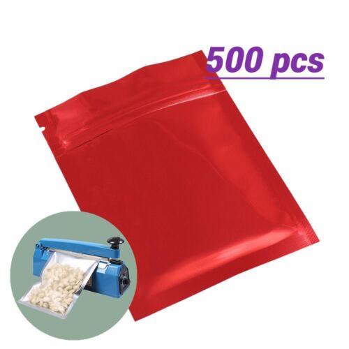 3x4in Wholesale Red Glossy Foil Zip Lock Bag Heat Sealing Sealer Machine M02