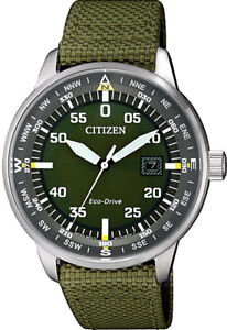 Citizen-Eco-Drive-Stainless-Steel-Nylon-Strap-Mens-Watch-BM7390-22X-Casual-Chic