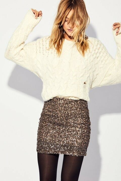 Free People Sequin Mini Skirt Size 2 NEW MSRP   88