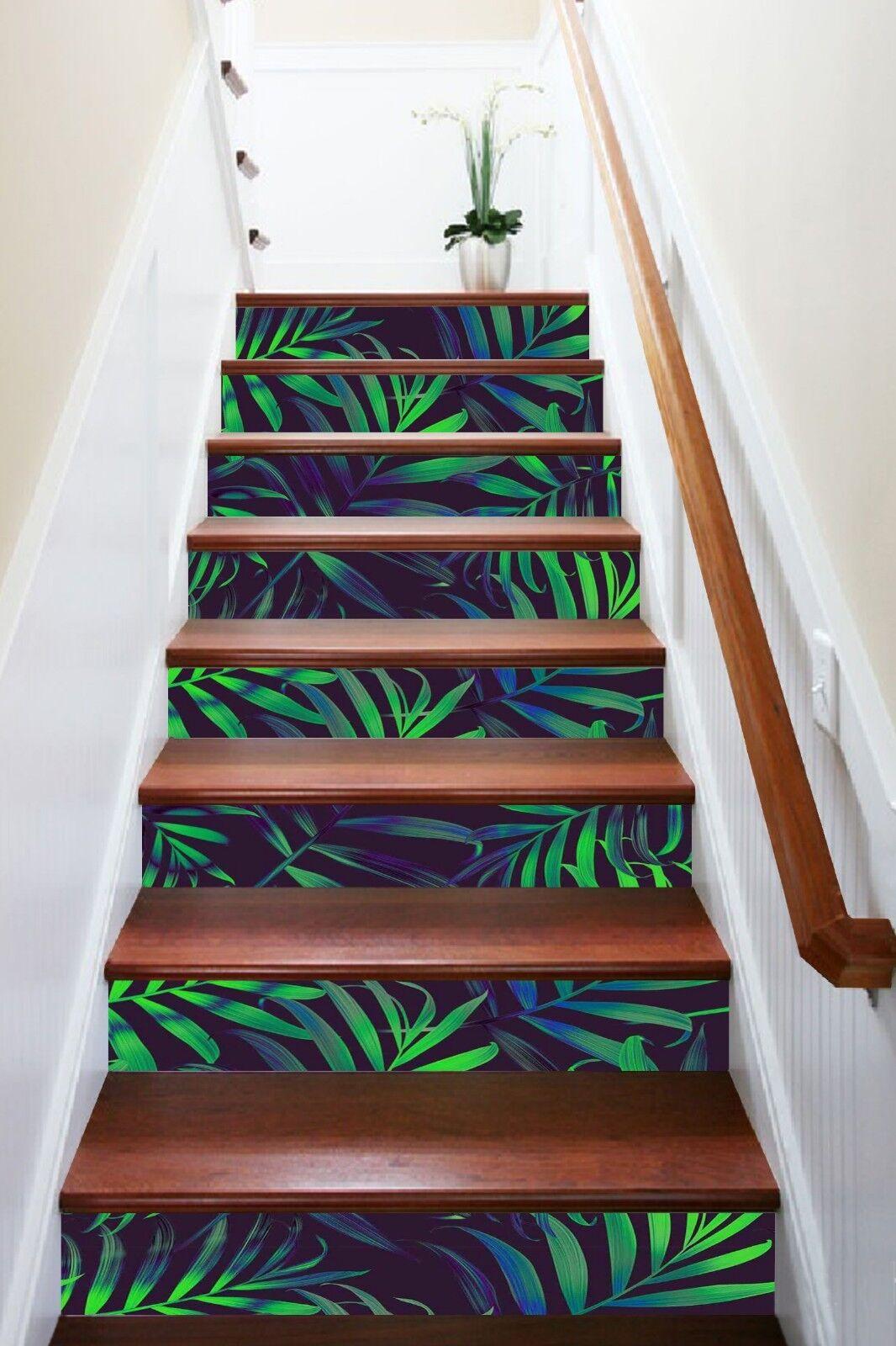 3D verde FOGLIA 4 ALZATE Decorazione Decalcomania In Vinile Murale Foto Carta Da Parati UK