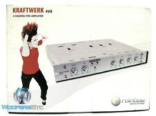 KW 4V8 RAINBOW AUDIO KRAFTWERK CAR 4 CHANNEL PRE AMPLIFIER SPEAKER CROSSOVER NEW