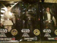 "Star Wars 12"" Darth Vader Dark Vador,Luke Skywalker,Han Solo La Guerre Des Set"