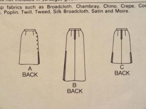 Lovely VTG 70s BUTTERICK 6377 Misses Skirts in 3 lengths PATTERN 8-12-14-16 UC