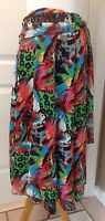 Linea Domani Size 10 Skirt Colorful Unique Artsy Boho Lined Polyester