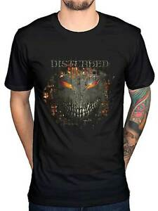 Disturbed Fire Behind Evil Smiley Distressed Face t-shirt ... |Disturbed Smiley Face