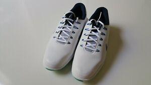 New Nike Lunar Control Vapor 2 Golf Shoes, White/Blue/Clear