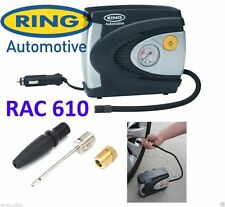 2017 RAC610 12v Car Tyre Analogue Gauge Air Compressor Inflator Electric Pump
