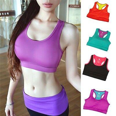 Women's Fitness Yoga Stretch Workout Tank Top Seamless Racerback Sports Bra S-XL