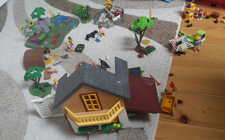 Playmobil Bauernhaus mit Hofladen- 5120 + viele tierische extra Setsgebraucht