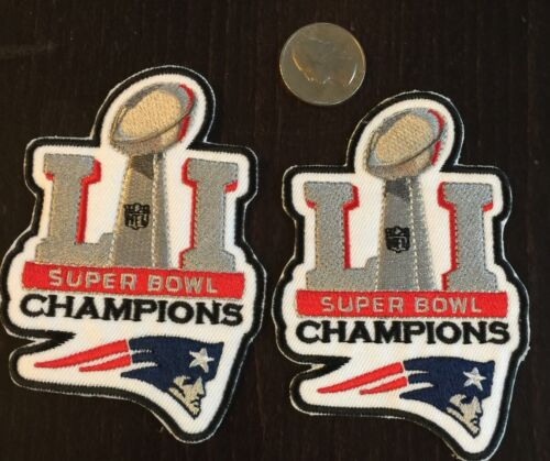 2-NEW ENGLAND PATRIOTS SUPER BOWL 51 CHAMPIONS embroidered iron on  Patches