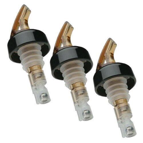 Amber 3 Pack Precision Pour Spouts Measured Pourer w//Collar 1-1//2 oz