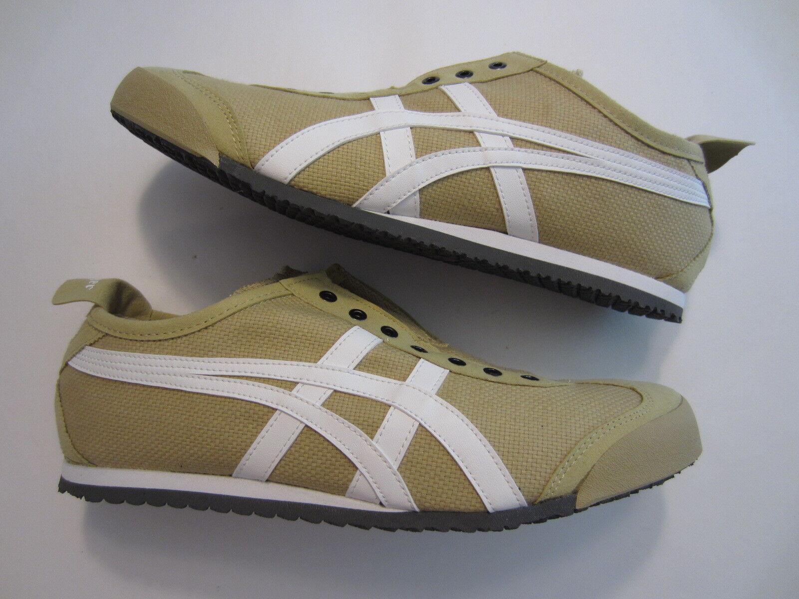 NEW Asics Onitsuka Tiger Mexico 66 Slip-On mens shoe sneaker taos taupe 7.5 US