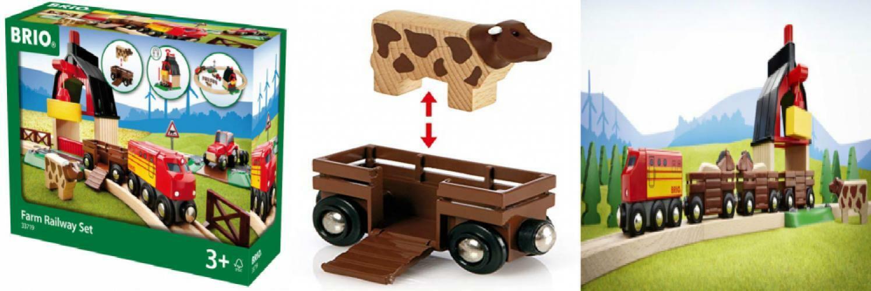 Brio 33719 Farm Railway Set   giocattolo Train for bambini Age 3 e Up