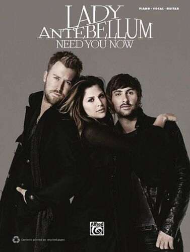 Lady Antebellum Need You Now Sheet Music Piano Vocal Guitar Songbook 000701630