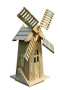 Charmant Image Is Loading Decorative Garden Windmill Lawn Ornament Wooden Yard Cedar