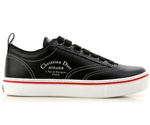 quality design ca778 4f2ac Dettagli su DIOR sneaker scarpe uomo 3SN229 YAL963 nero in pelle