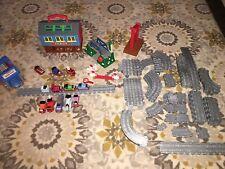 Thomas The Train Take Along Play Lot Set Gray Tracks Trains Cars Sodor Bridges +