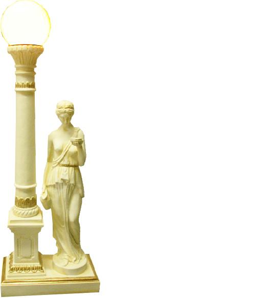 Antik Stil Figur Leuchte Tischlampe Tischleuchte Lampe Lampen Leuchten Tisch Neu